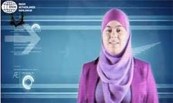 اولین مجری با حجاب در شبکهای بلژیکی+عکس