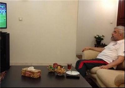 روحانی تماشاگر دیدار ایران و نیجریه + عکس