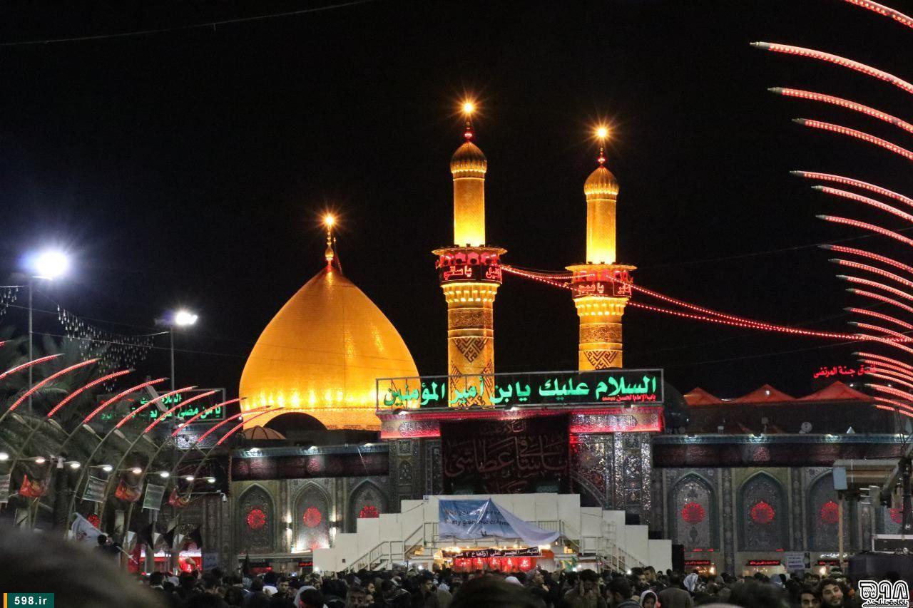 نقاشی مکه عکس: حرم حضرت ابوالفضل العباس(ع) در ایام اربعین حسینی ...